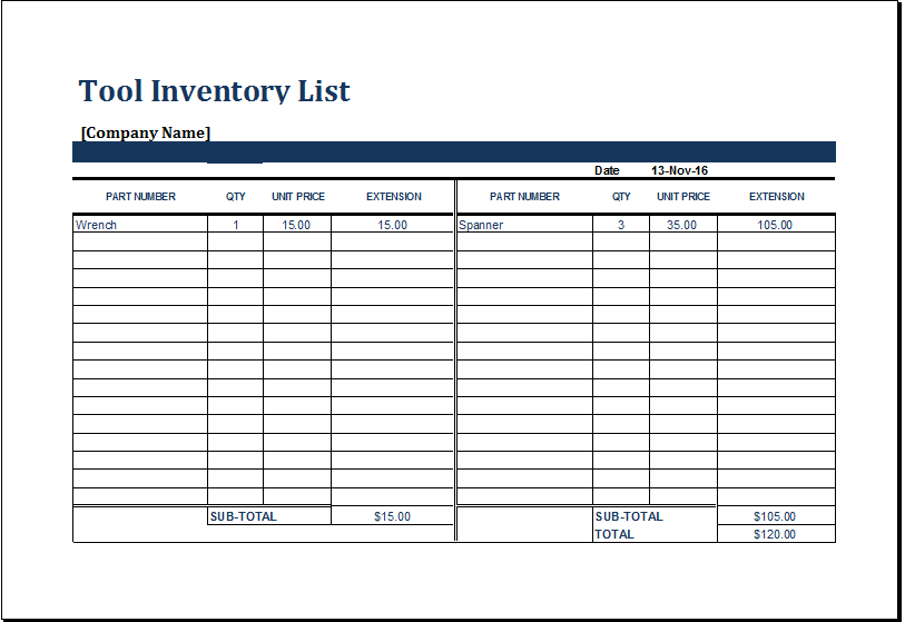 free stock inventory software excel sample