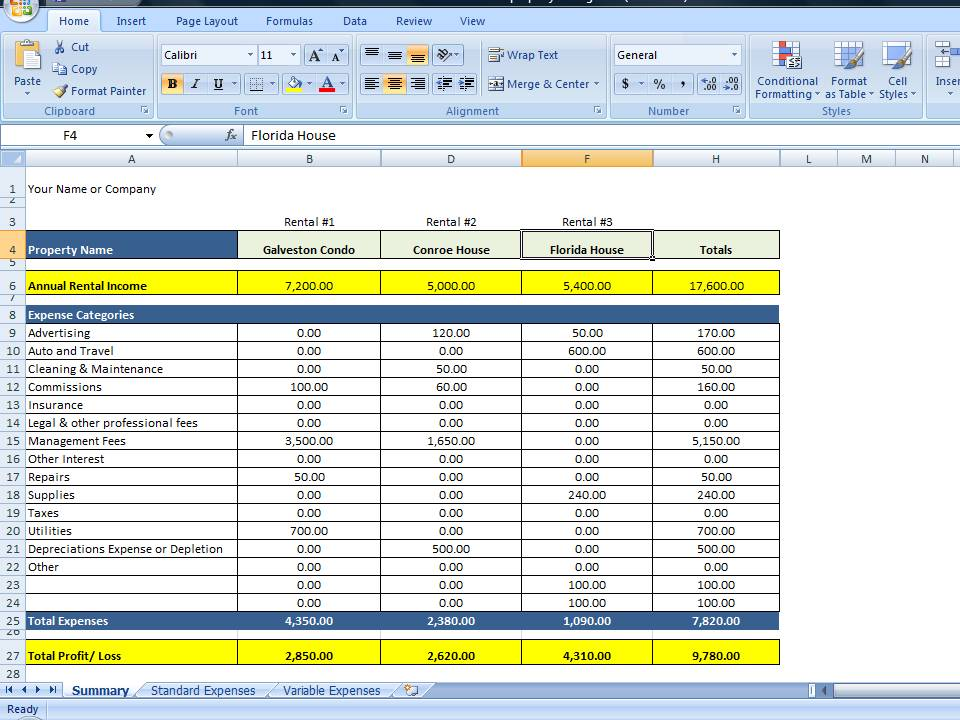 personal expenses template 1