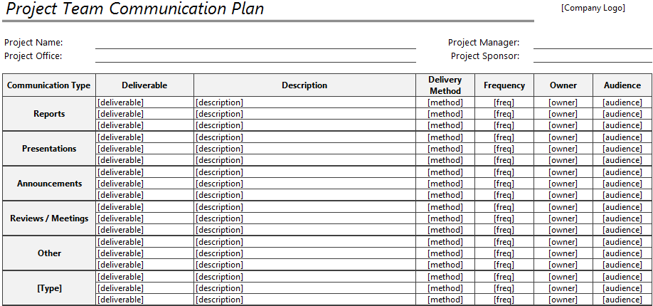 project plan template word sample