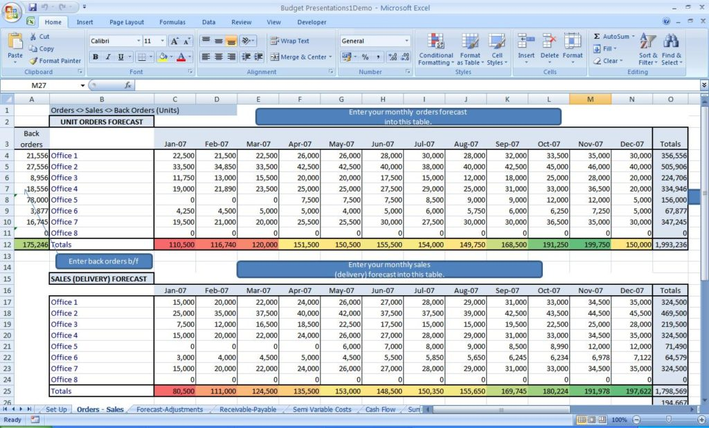 startup business plan template excel sample