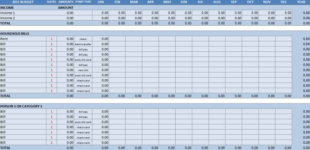 basic budget worksheet sample 1