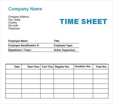 excel timesheet template with formulas sample