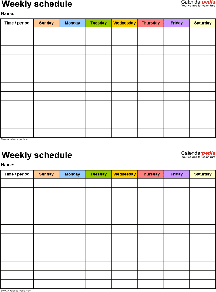 free work schedule marker sample 3