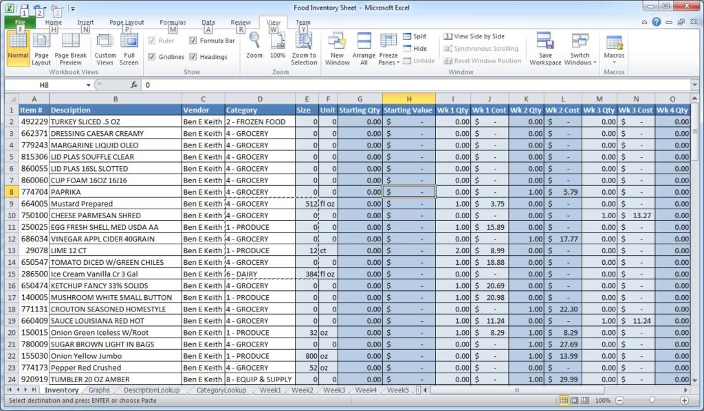 how to keep account in excel sample 3