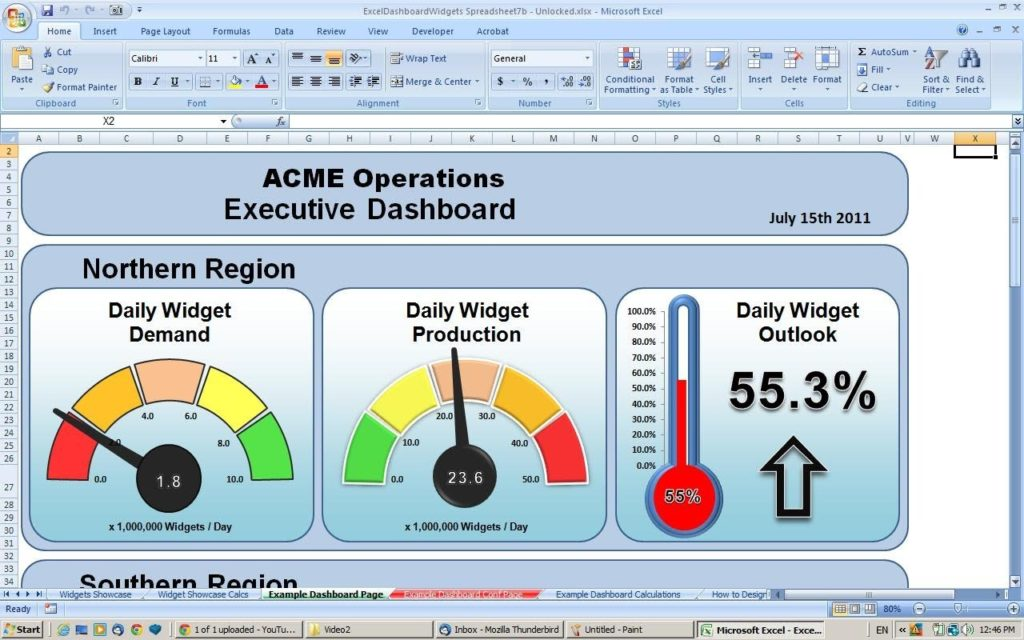 kpi dashboard excel template 1