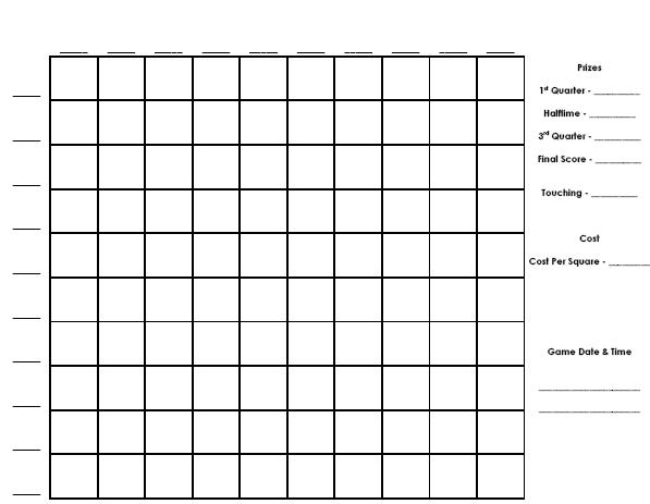 printable football pool sheets sample