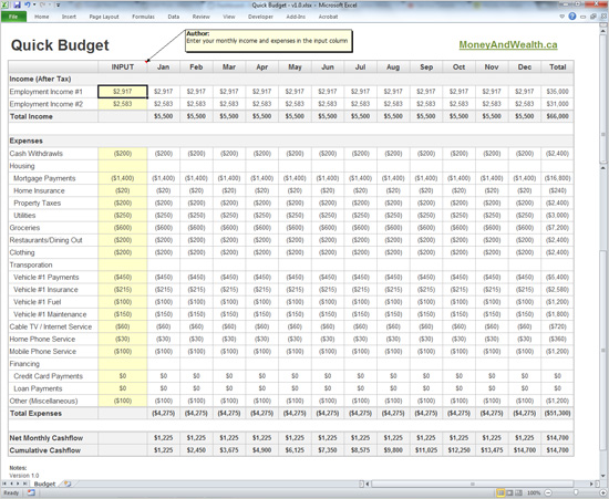 printable monthly budget template 5
