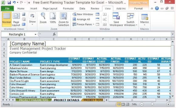 project tracker excel sample