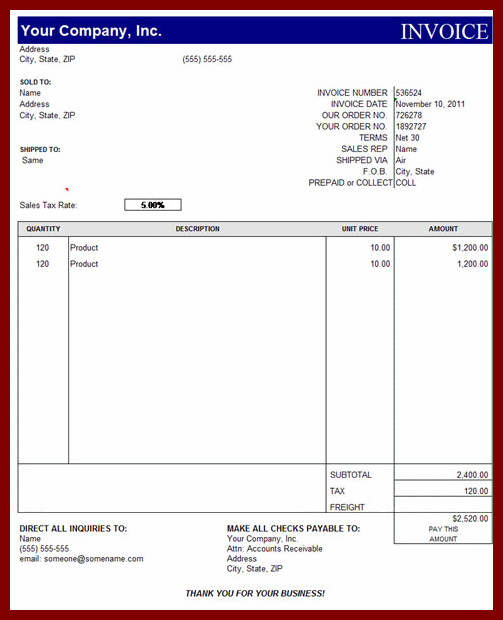 simple invoice template uk sample