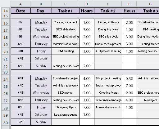 simple project plan template 1