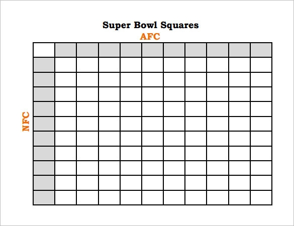 super bowl squares payouts sample