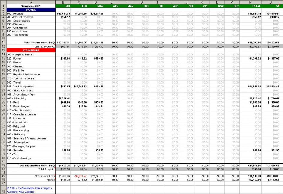 business expenses templates free download