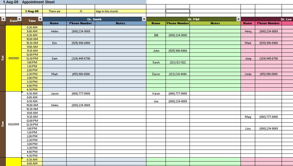 excel templates for business sample 1