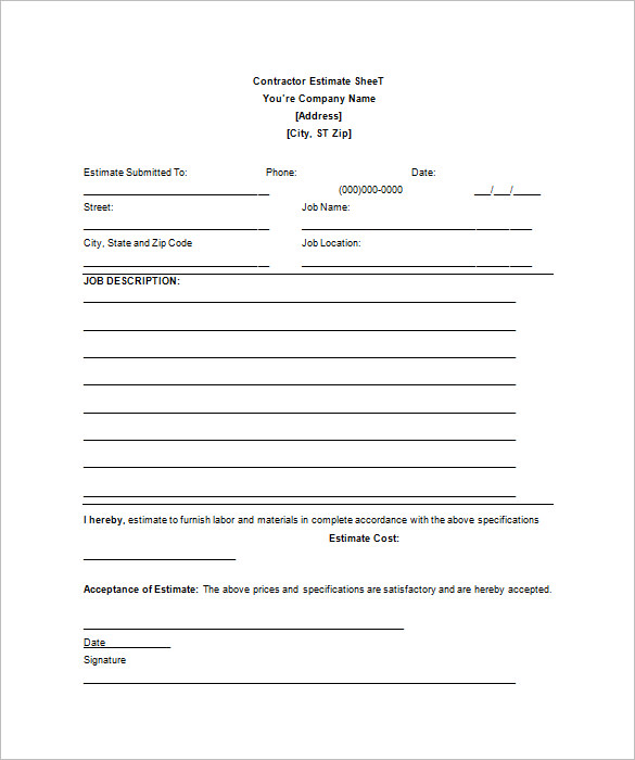 quotation letter template