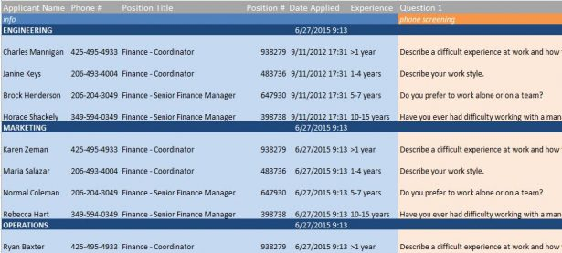 recruitment manager excel template