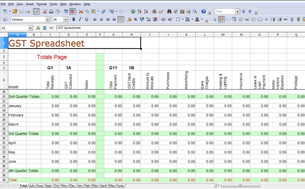 tax spreadsheet template for business sample