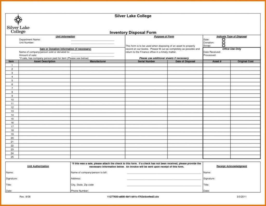 Business Process Inventory Overview Sheet