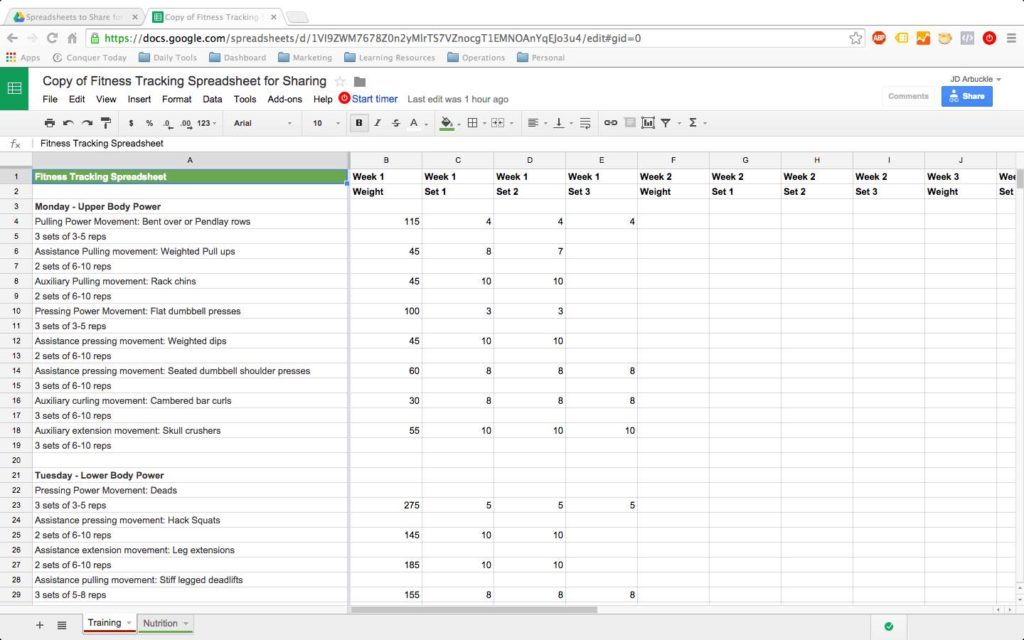 Google Spreadsheet Project Management