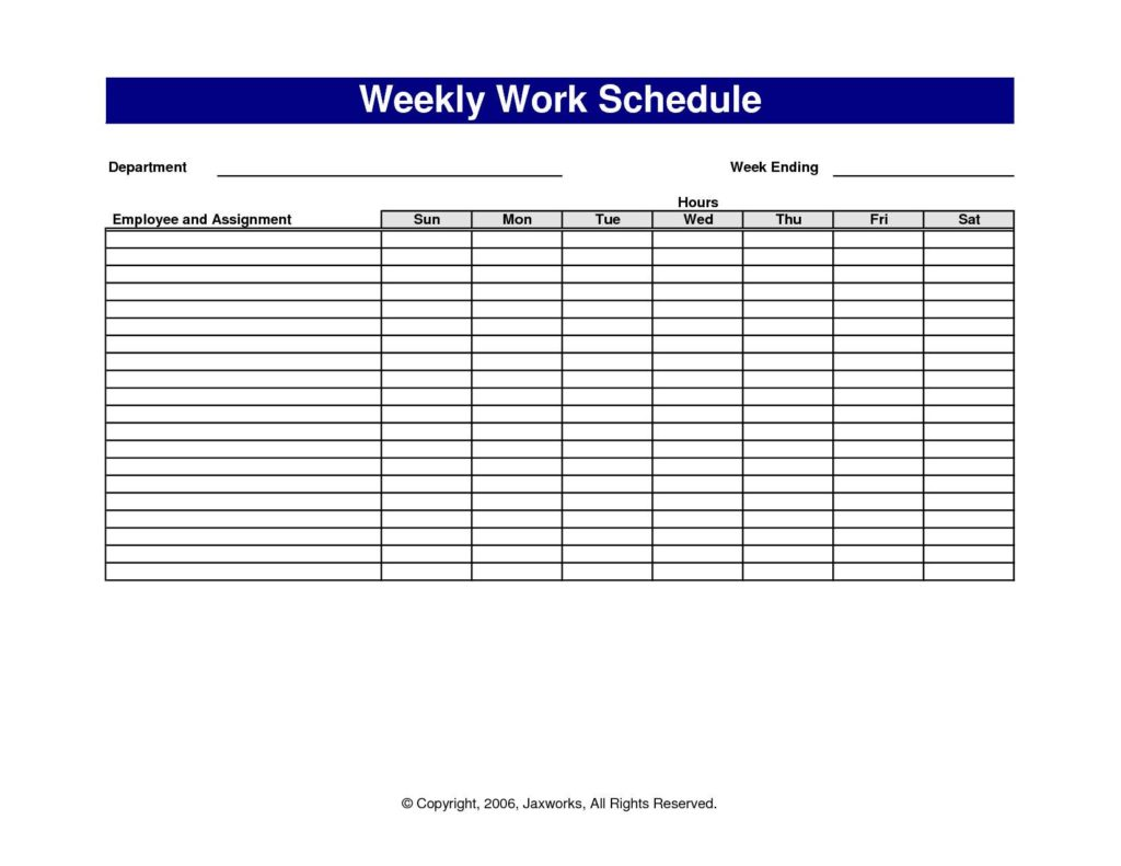 Employee Schedule Template Excel and Employee Hours Tracking Spreadsheet