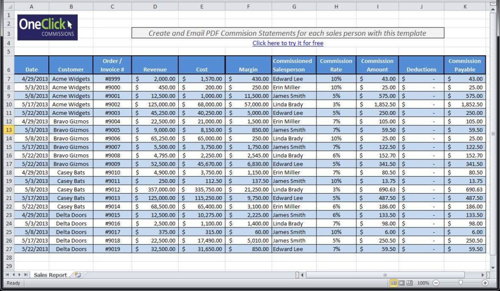 Example of Excel Spreadsheet for Payroll and Excel Spreadsheet for Calculating Payroll