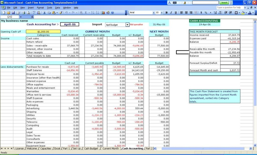 Excel Sheet Template for Small Business and How to Set Up Excel Spreadsheet for Small Business