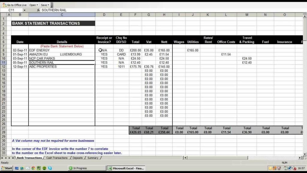 Excel Spreadsheet for Small Business Income and Expenses with Best Excel Template for Small Business Accounting