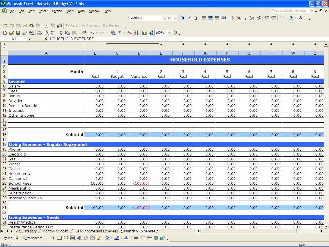 Free Accounting Spreadsheet Templates for Small Business with Spreadsheet for Business