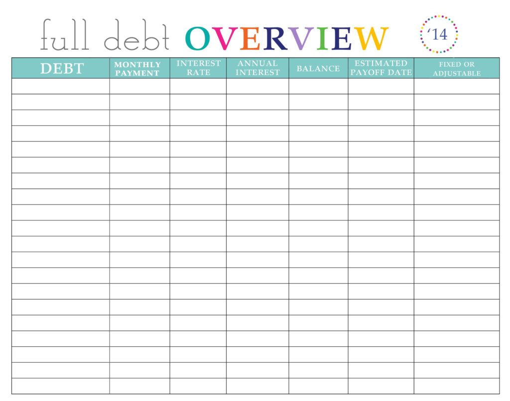How to Get Out of Debt Worksheet and Credit Card Payoff Spreadsheet