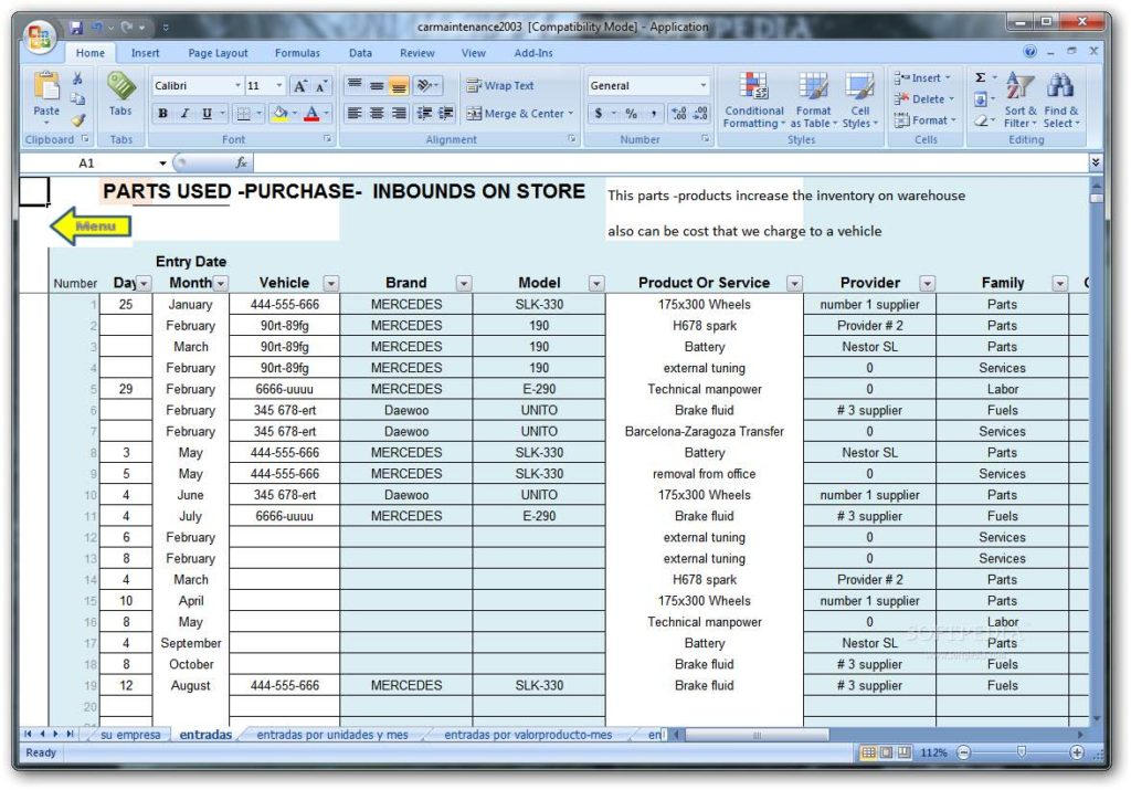 Property Maintenance Tracking Spreadsheet and Preventive Maintenance Spreadsheet Template