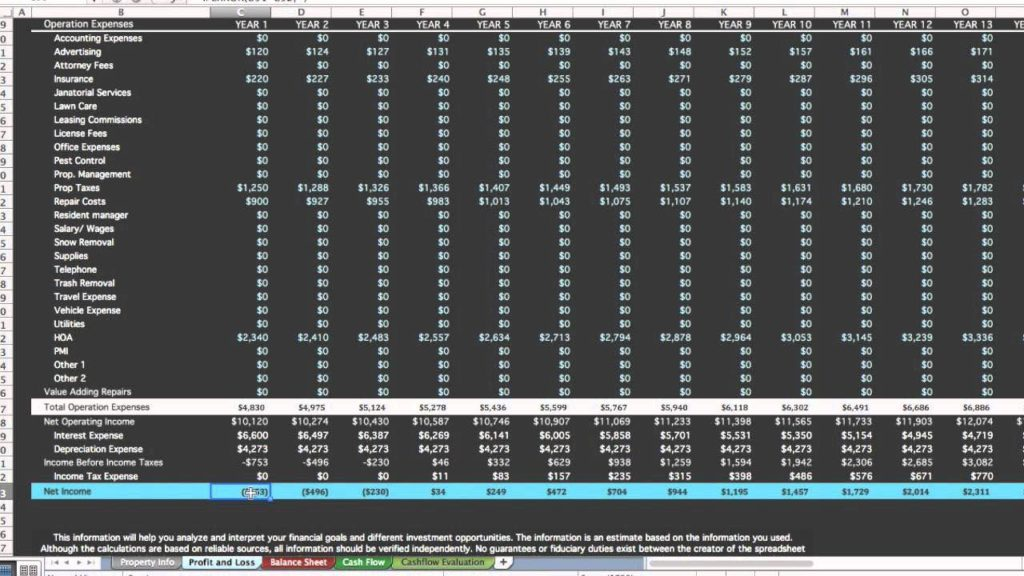 Real Estate Investment Spreadsheet and Real Estate Investment Spreadsheet Free