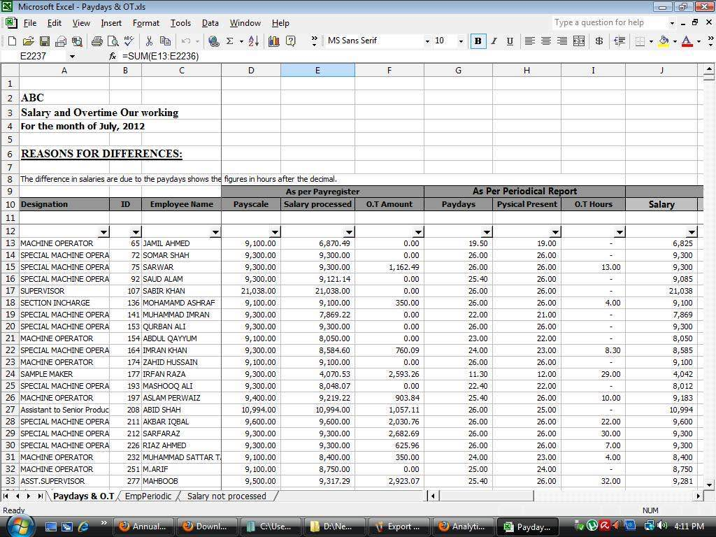 Sample Spreadsheet for Payroll on Excel and How to Create an Excel Spreadsheet for Payroll