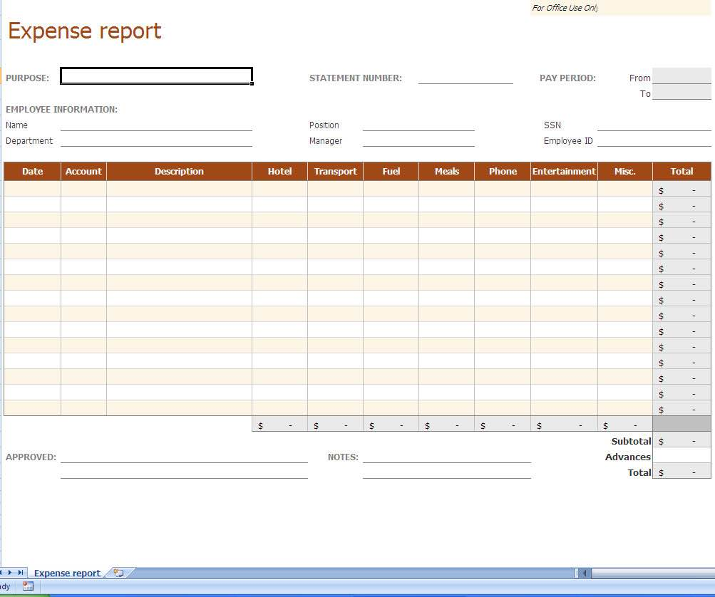 Sample of Excel Spreadsheet Business Expenses and Excel Business Income and Expenses