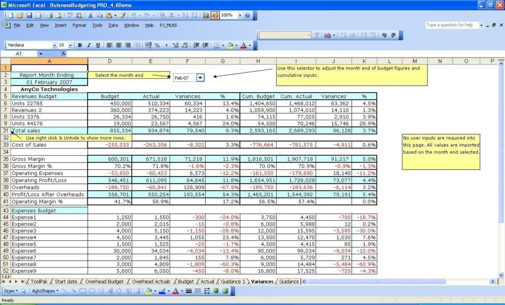 Small Business Expense Tracking Spreadsheet and Sample Small Business Expense Spreadsheet