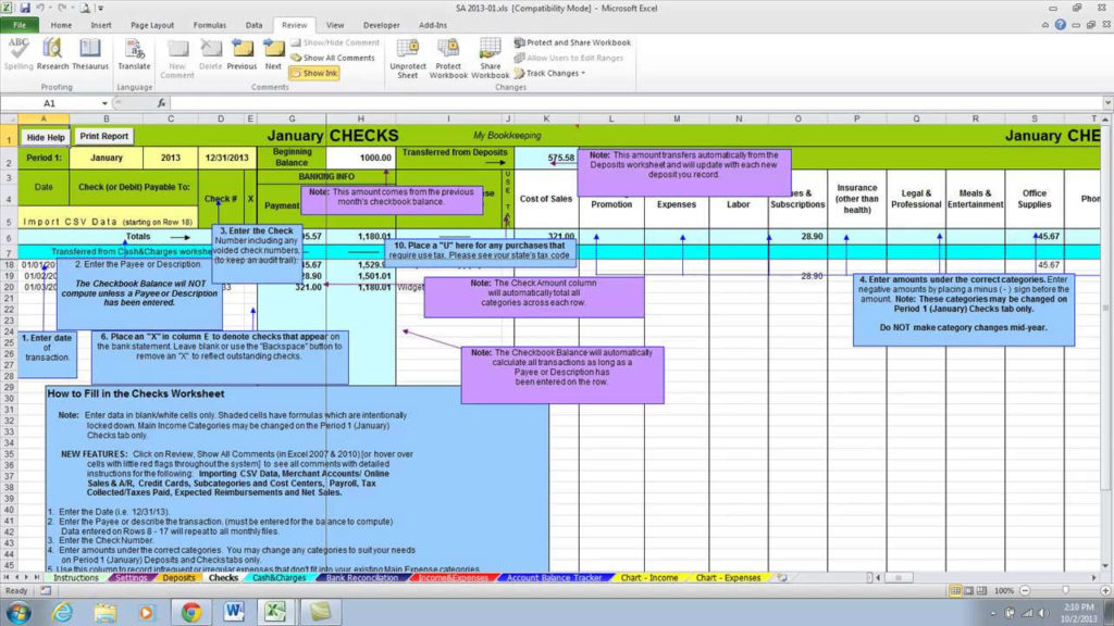 Small Business Expenses Spreadsheet and Small Business Tax Deductions Spreadsheet