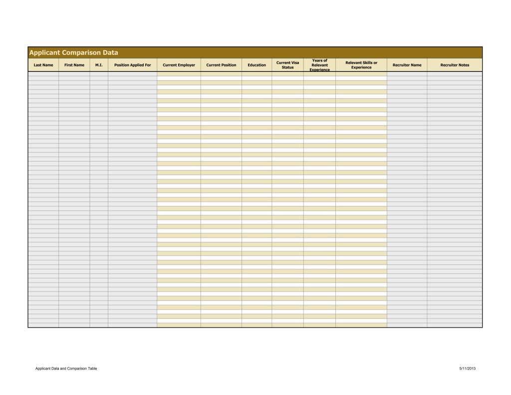 Applicant Tracking Spreadsheet Excel and Free Recruitment Tracking Spreadsheet