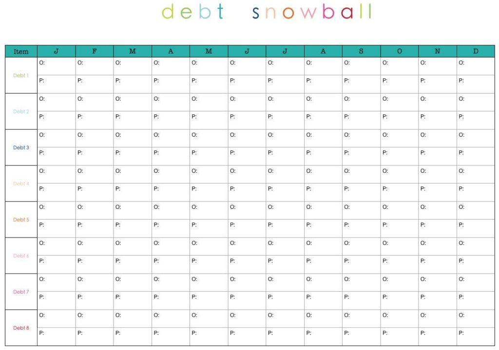 Free Snowball Debt Reduction Spreadsheet and Credit Card Spreadsheet Template