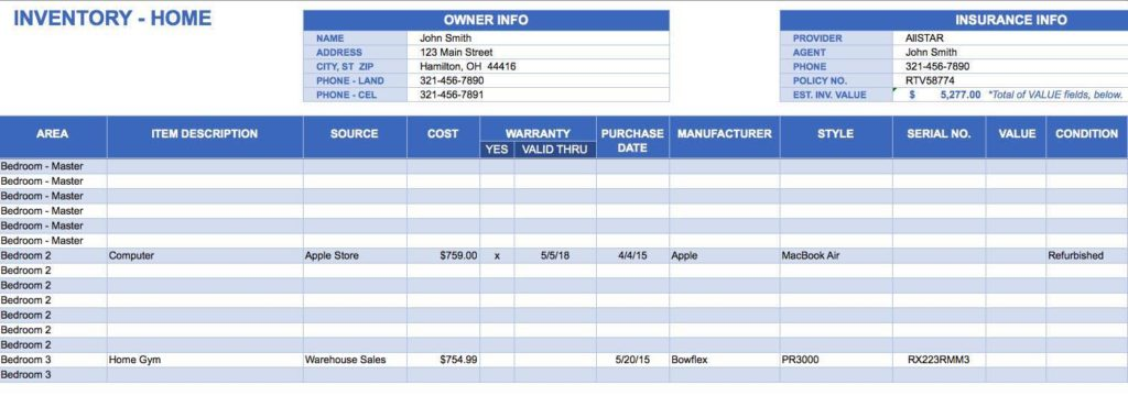 Product Inventory Tracking Spreadsheet and Spreadsheet for Inventory Tracking