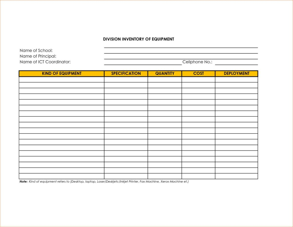 Sample Vending Machine Inventory Sheet and Vending Machine Excel Spreadsheet