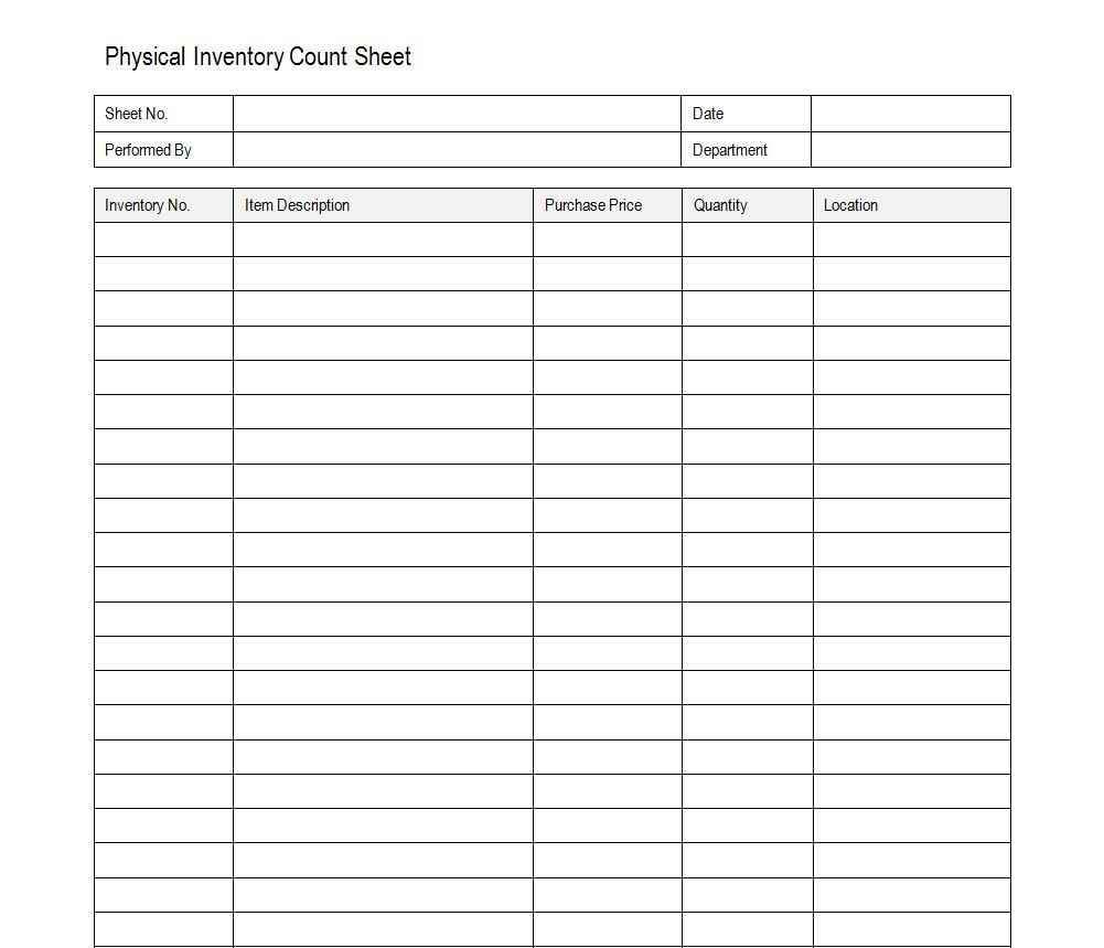 Stock Inventory Excel and Inventory Templates for Landlords