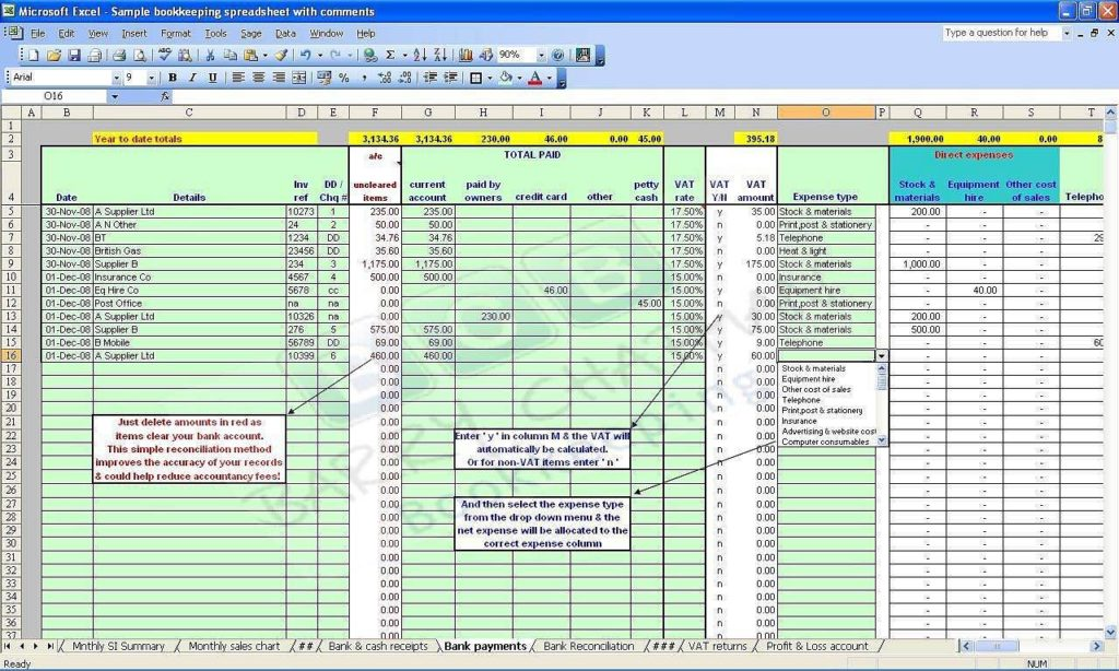 Basic Bookkeeping Spreadsheet Free And Free Farm Bookkeeping Spreadsheet