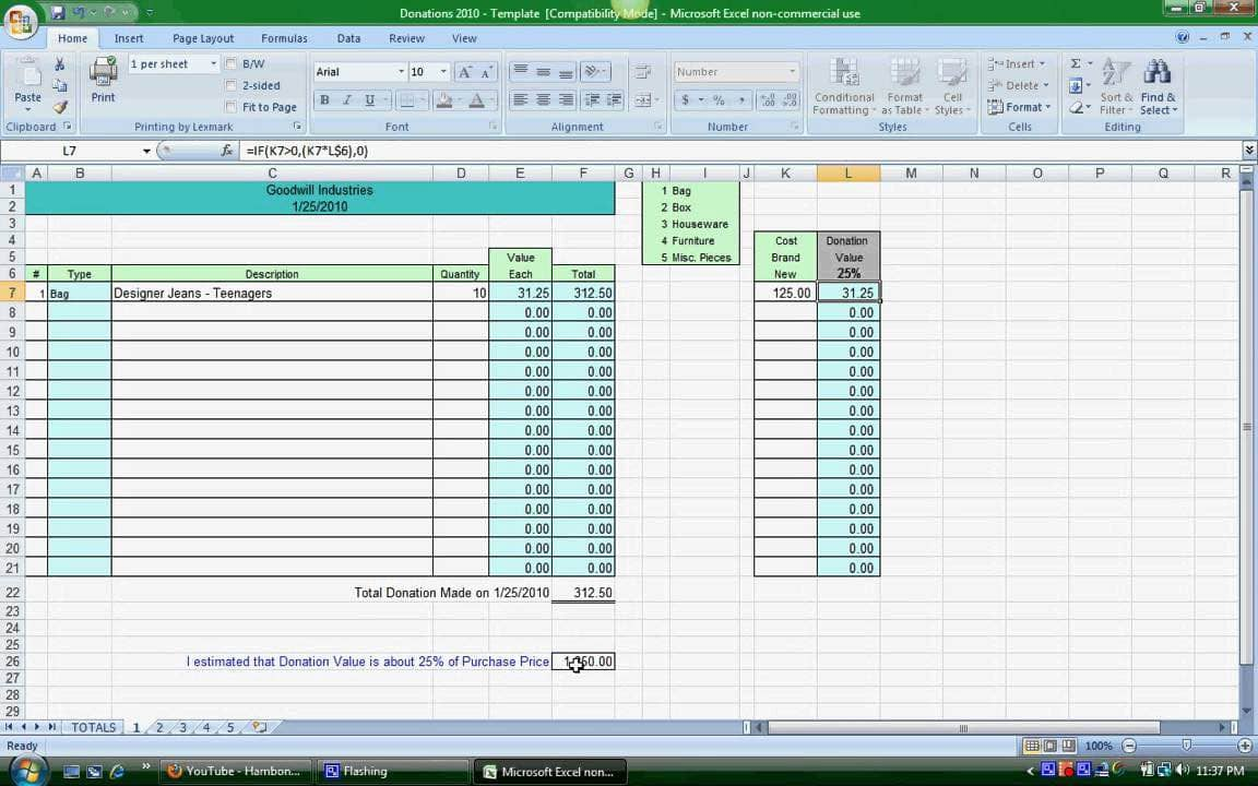 Tithing Spreadsheet Free Template And Free Tithes And Offering Template