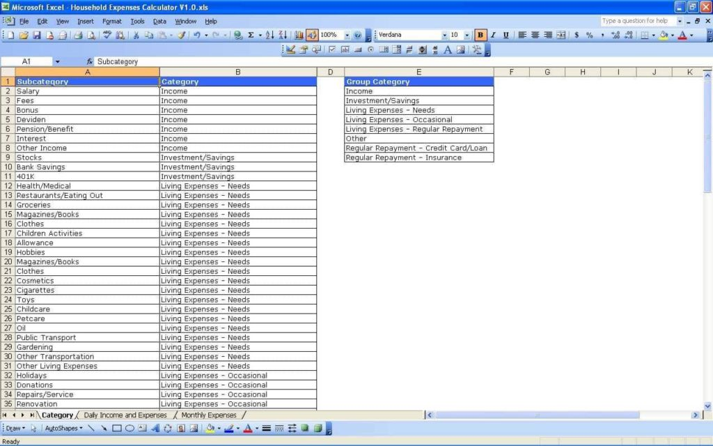 Track Expenses Spreadsheet And Track Business Expenses Spreadsheet