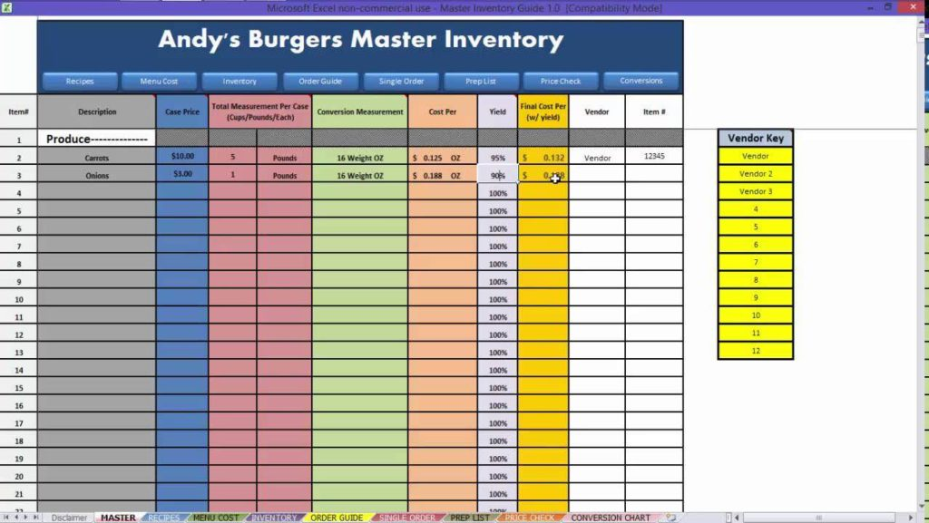 Examples Of Excel Inventory Spreadsheets And How To Make Stock Inventory In Excel