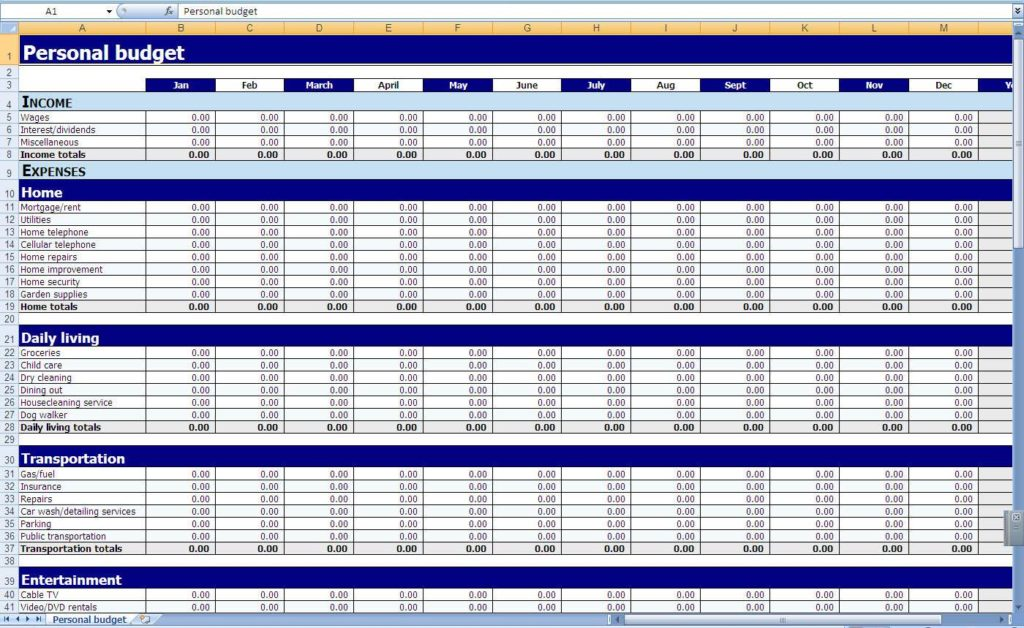 Free Accounting Spreadsheet Templates For Small Business And Budget Template For Small Business