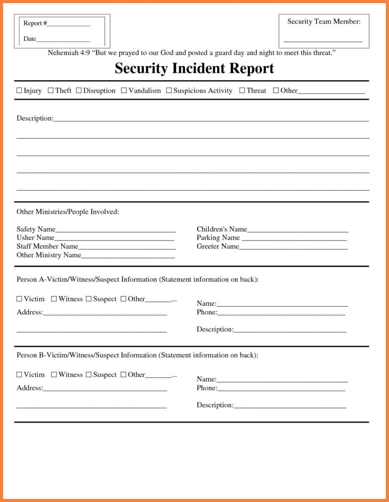 Samples Of Incident Report And Sample Letter Of Incident Report On Theft