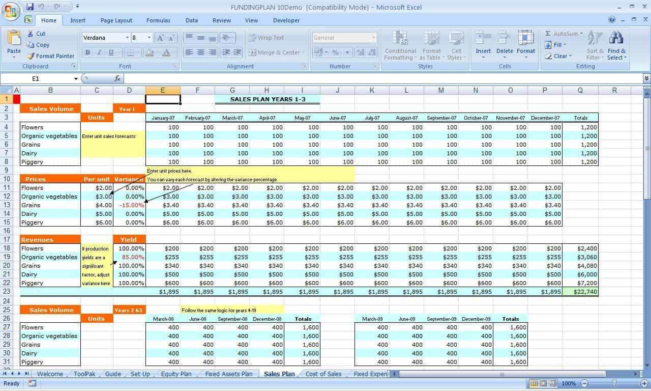 Spreadsheet Example For Small Business And Template For Small Business Accounts