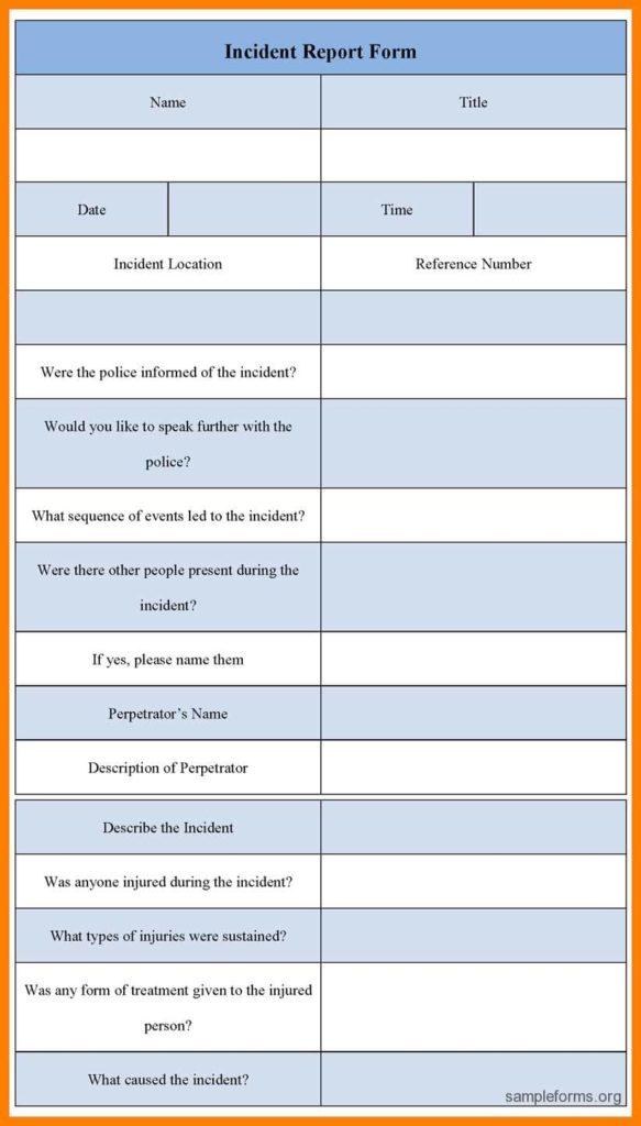 Information Technology Incident Report Template And Security Incident Report Template Word