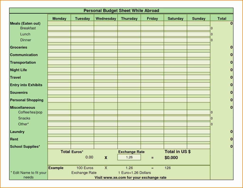 Microsoft Excel Church Budget Template And Church Budget Template Excel