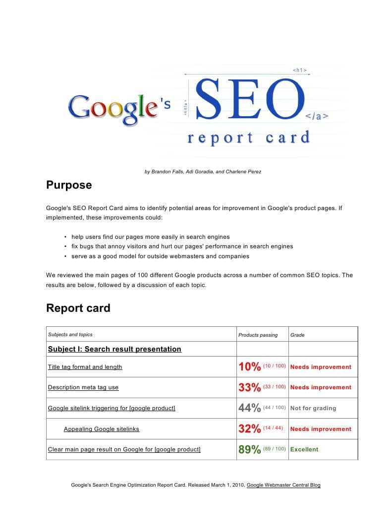 SEO Analysis Report Sample And SEO Strategy Report Sample