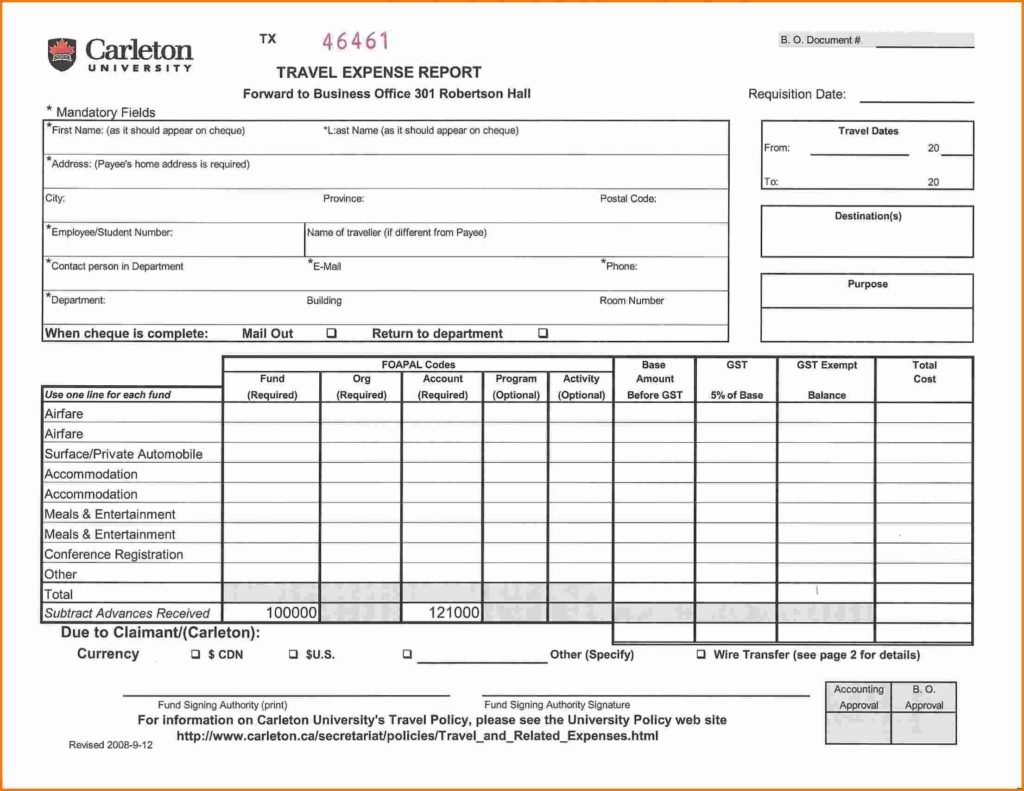 Sample Business Expense Report Excel And Monthly Expense Report Template